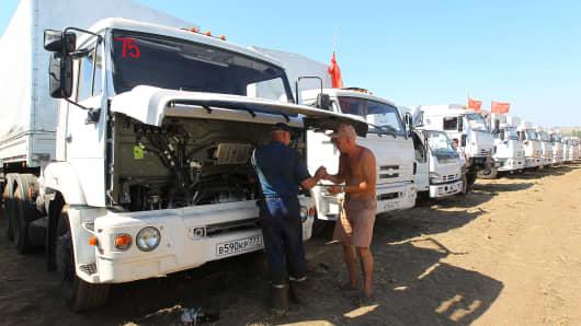 Russian humanitarian aid convoy