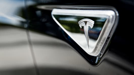 Tesla Model S decal.