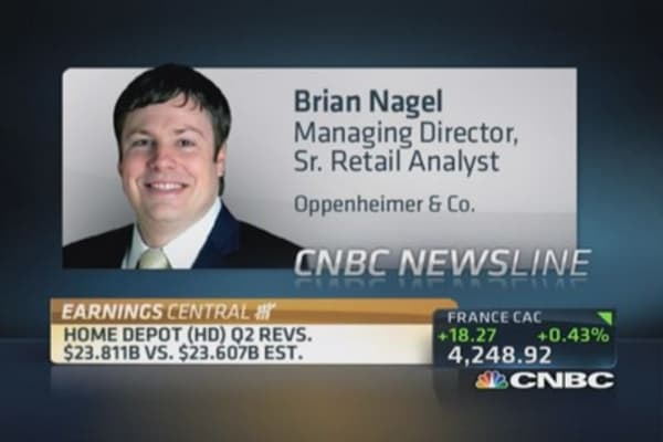 Analyst says Home Depot 'a top retail pick'