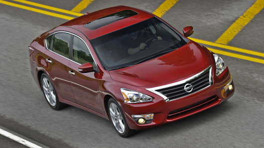 Nissan to recall Altimas for third time to fix hood latches