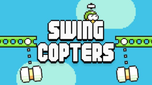 Screen image of Swing Copters