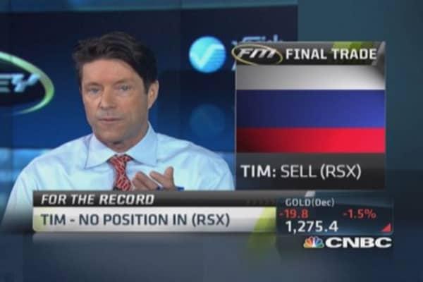 Fast Money Final Trade: RSX, CRM, SPY, GPS