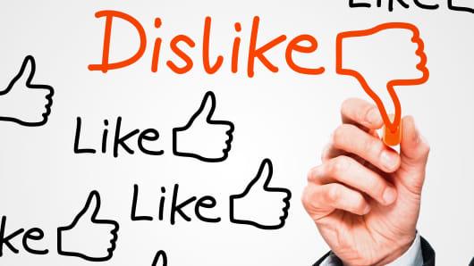 Social media like dislike