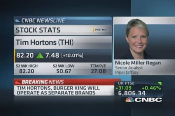 Burger King confirms Tim Hortons deal