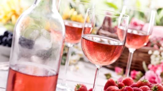 Wine summer picnic rose