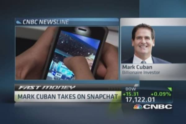 Mark Cuban's Cyber Dust challenges Snapchat