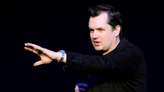 Comedian Jim Jefferies performs at The Joint inside the Hard Rock Hotel & Casino on May 31, 2014 in Las Vegas.
