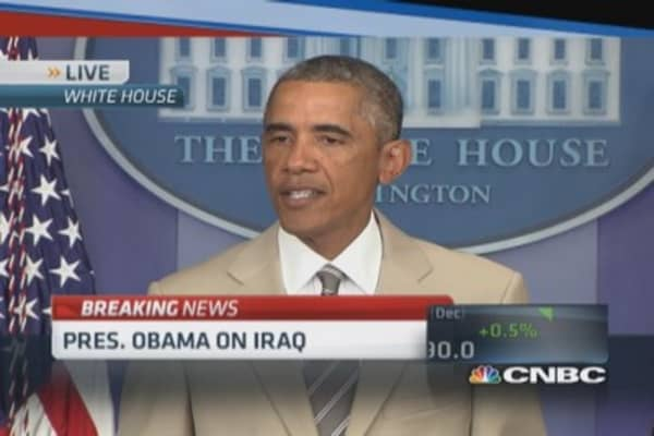 President Obama: ISIS threatens people of Iraq