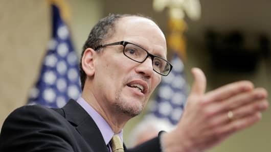 Secretary of Labor Thomas Perez
