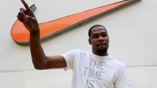 Kevin Durant of Oklahoma City Thunder.