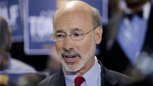 Pennsylvania Democratic gubernatorial nominee Tom Wolf.