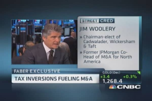 Tax inversions fueling M&A?