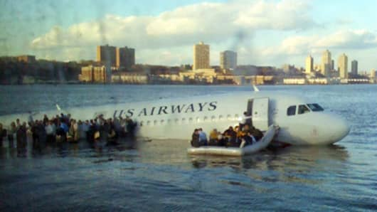 A Twitpic photo of a US Airways flight that landed in the Hudson River went viral on Twitter in 2009.
