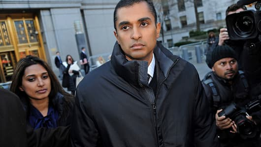 Mathew Martoma, a former portfolio manager at a unit of SAC Capital Advisors, exits federal court in New York.