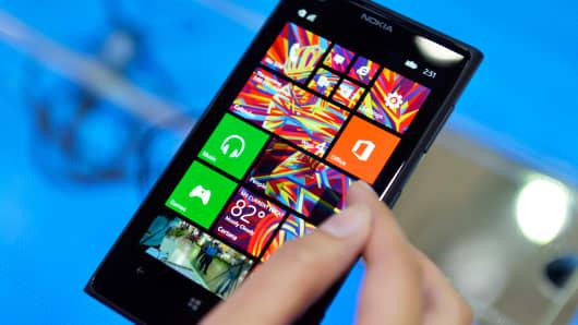 A Nokia OYJ Lumia 1020 smartphone