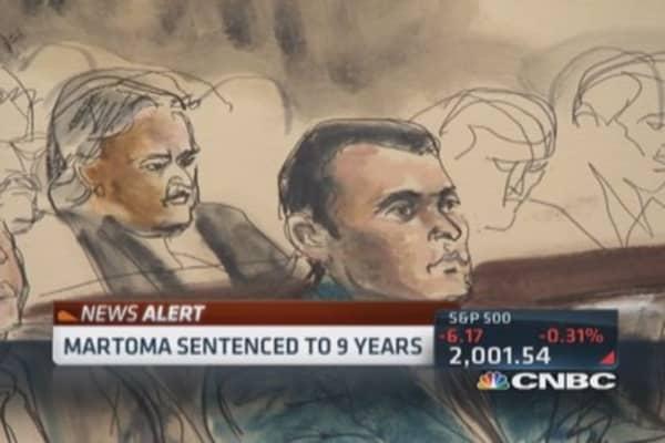 Martoma ordered to forfeit $9.4 million