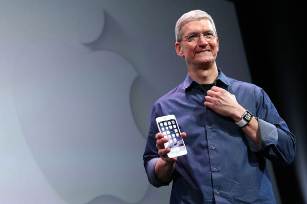Apple CEO Tim Cook speaks during an Apple special event at the Flint Center for the Performing Arts, Sept. 9, 2014, in Cupertino, Calif.