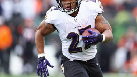 Ray Rice of the Baltimore Ravens in 2013.