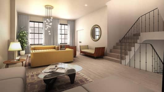 Virtual renovation of living room