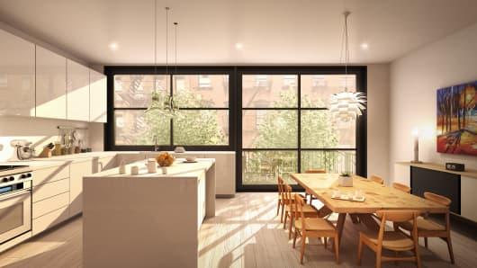 Virtual renovation of kitchen
