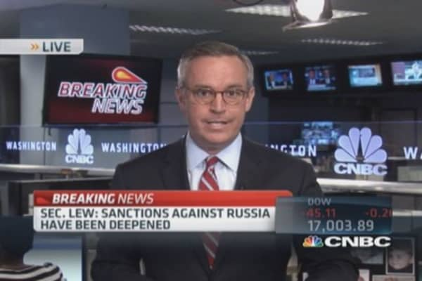 Russian sanctions rolled out
