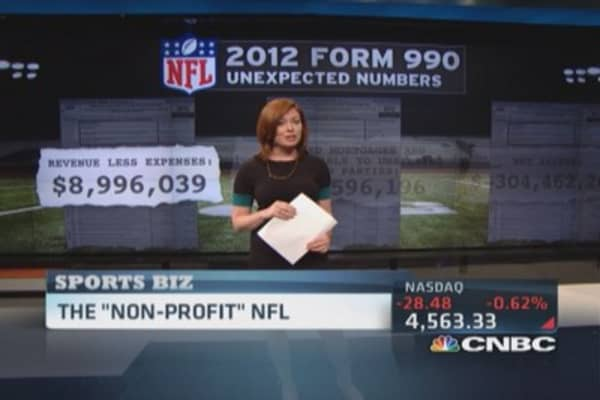 The NFL's 'non-profit' numbers