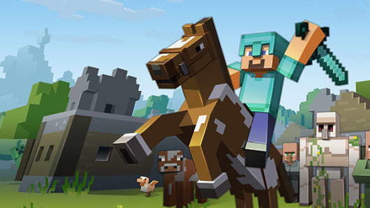 A still from Minecraft