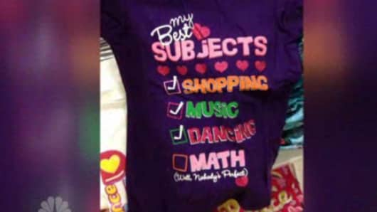 A shirt by Children's Place