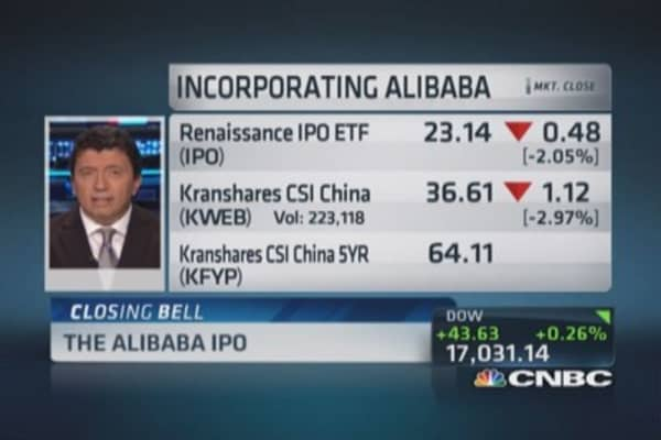 Alibaba ETF placement