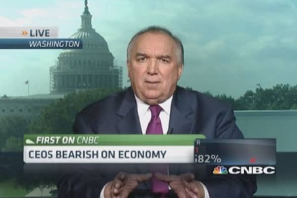 CEOs bearish on economy
