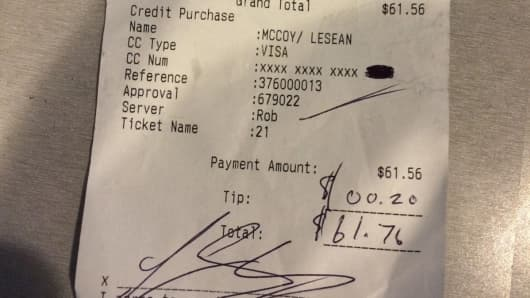 Receipt signed by LeSean McCoy as shown on eBay