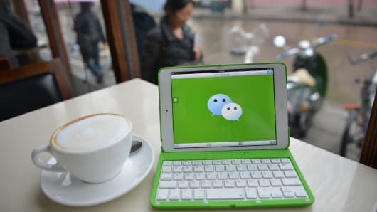 Tencent Holdings Ltd. WeChat has taken China by storm in just three years, allowing its more than 300 million users to send text, photos, videos and voice messages over smartphones, find each other by shaking their devices.