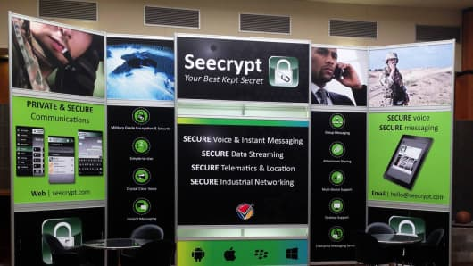 A Seecrypt display at the annual Micssa symposium in Lynwood Pretoria, South Africa.