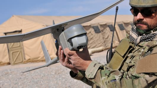 AeroVironment's small unmanned aircraft, the Raven Gimbal