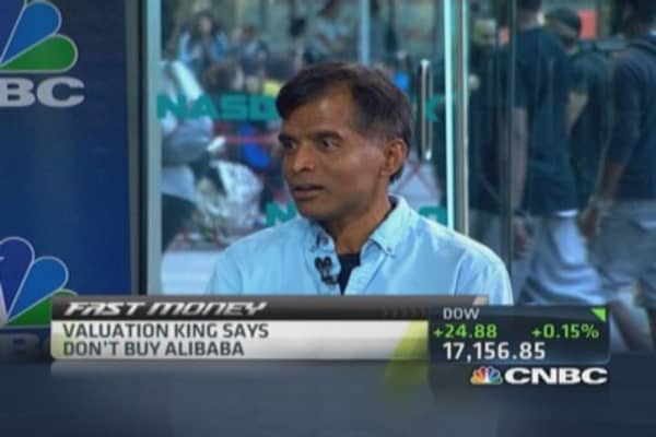 Valuation king says don't buy Alibaba