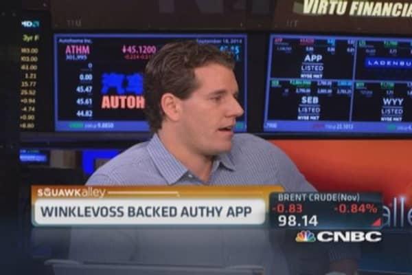 Winklevoss backs Authy app
