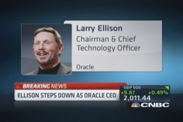 Larry Ellison steps down as CEO of Oracle