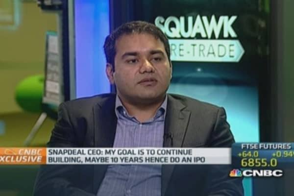 We're not selling to anyone: Snapdeal CEO