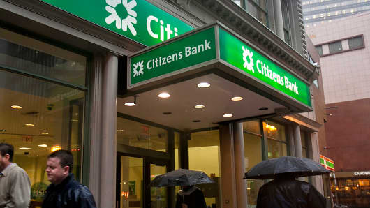A Citizens Financial Group bank branch in Boston.