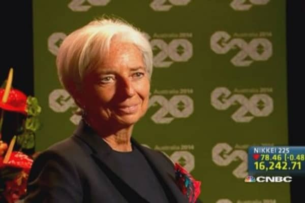 IMF's Lagarde: G-20's growth target is achievable