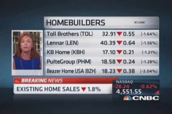 August existing home sales down 1.8%