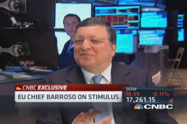 Europe will avoid recession: Barroso