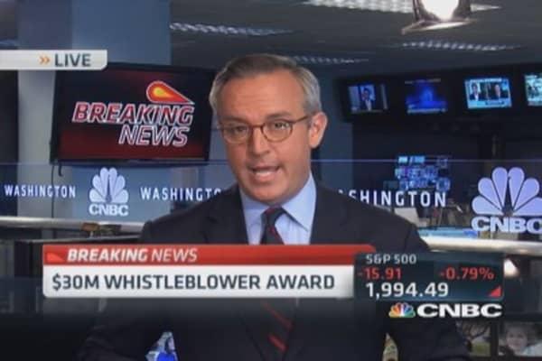 SEC announces largest ever whistleblower payout