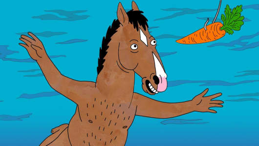 "An image from ""BoJack Horseman"" by Netflix"