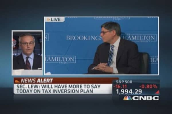 Sec. Lew: More on tax inversion plan soon