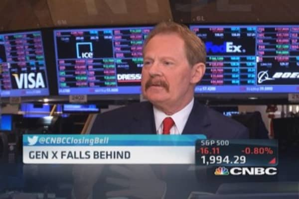 Gen X falls financially behind