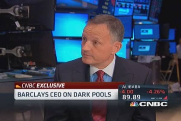 Barclays CEO on dark pools lawsuit