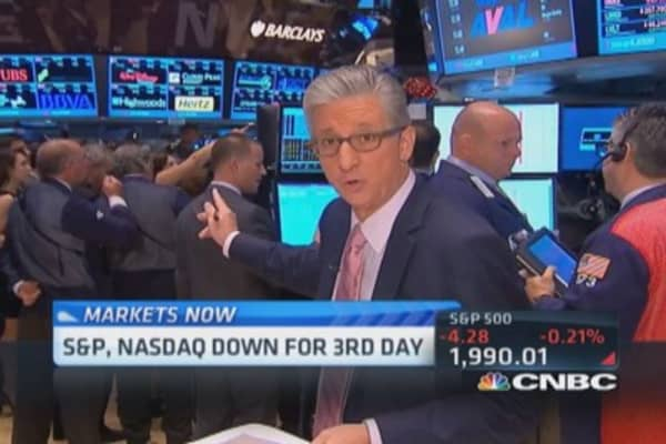 Pisani's market open: Commodities down trend
