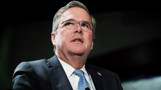 Former Florida Gov. Jeb Bush attends a Long Island Association luncheon in Woodbury, N.Y.