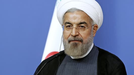 Iran's President Hassan Rouhani attends a news conference in Ankara, Turkey, June 9, 2014.